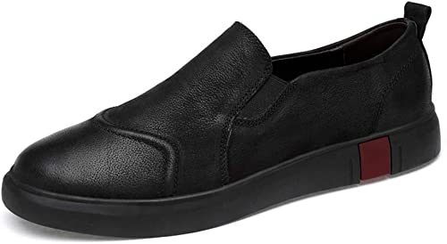 Dundun-chaussures, Chaussures Chaussures Chaussures d'été 2019 Penny Loafers Hommes Chaussures De Conduite en Cuir Véritable pour Hommes Slip on Flats Chaussures Mocassins (Couleur   noir Lace, Taille   43 EU) b65