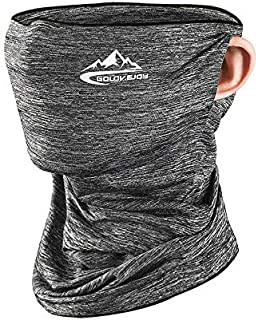 Sunscreen Scarf, Breathable Sun Dust Protection Neck Gaiter Riding Magic Headband Multifunctional Ice Silk Fabric Shelter Light Gray