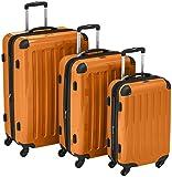 HAUPTSTADTKOFFER - Alex – Set de 3 pièces (55 cm, 65 cm, 75 cm), Valises rigide, Trolleys, 4 rudeas, Orange