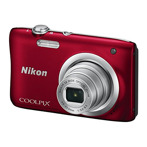 Nikon COOLPIX A100, Case, Selfie Stick Kompaktkamera 20,1 MP CCD 5152 x 3864 Pixel 1/2.3 Zoll Rot - Digitalkameras (Case, Selfie Stick, 20,1 MP, 5152 x 3864 Pixel, CCD, 5X, HD-Ready, Rot)