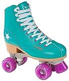 [page_title]-Hudora Disco Rollerskates Unisex Rollschuh, Grün/Lila, 36, 13182