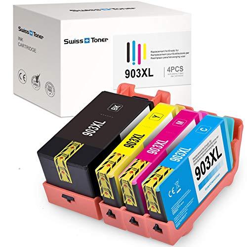 Brandneuer Chip-SWISS TONER 903XL Tintenpatronen Kompatibel für HP 903 XL für HP OfficeJet Pro 6950 6970 6960 6860 6868 6975 6978 Drucker (4er-Pack)