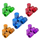 Senven 25PCS Cappucci per valvole in alluminio colore alta qualità, Cappucci parapolvere per pneumatici, auto, moto, camion, Evitare perdite d'aria - Coperture per valvole universali per pneumatici