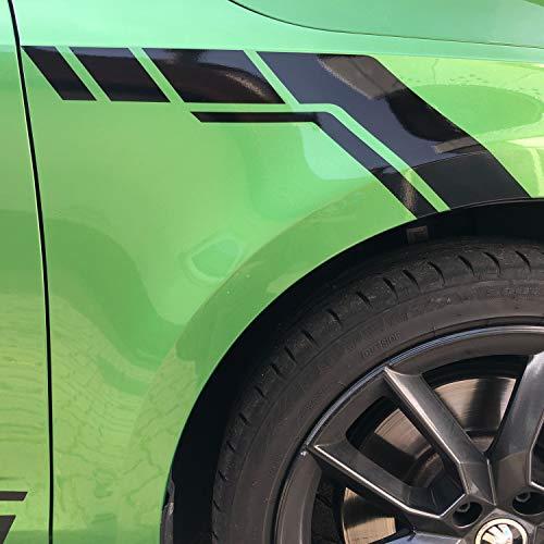 P-028   Kotflügel Dekor 2er Set Folien-Set (Oracal 751C/3M 1080)   Front   Stoßstange   Flap   Car Styling   Racing   Rallye   Wing   Decor (Schwarz Glanz, Variante 2)
