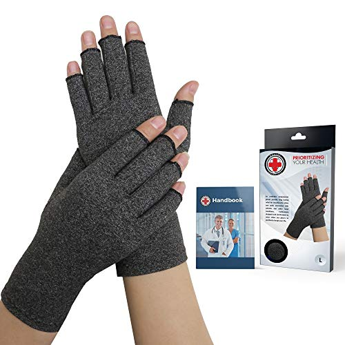 Doctor Developed Compression Arthritis Gloves - Doctor Written Handbook...