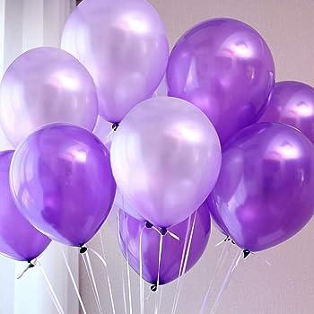 IyGnaw 100 pcs//lot 12 inch Thick Silver Balloons Wedding Decorations Party Happy Birthday Pearl Latex Balloon