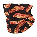 Bacon Printing Neck Gaiter Face Scarf Mask-Dust, Sun Protection Cool Lightweight Windproof, Breathable Fishing Hiking Running Cycling