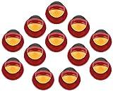 DESERMO 12er Set Kugelknöpfe Länder für Kochjacken | Hochwertige Kochjackenknöpfe für alle Kugelknopf-Kochjacken | Profi Kochknöpfe mit Länder Flagge (Deutschland)