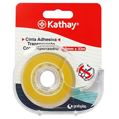 Kathay 86003300. Cinta Adhesiva Transparente con Dispensador
