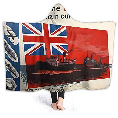 XCNGG Manta con capucha con póster de la guerra de sherpa supersuave, manta de forro polar con capucha