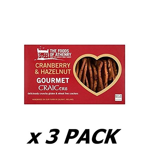 Foods Of Athenry Cranberry And Hazelnut Crackers 110 G (Pack of 3)