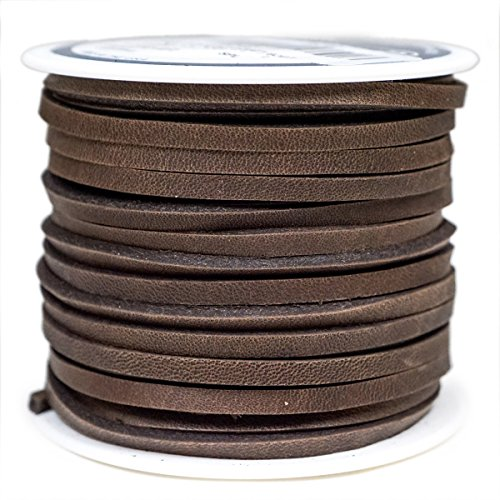 "Springfield Leather Company 1/8""x50ft Dark Brown Top Grain Cowhide Latigo Lace"