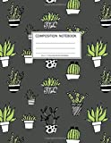 Composition Notebook: Girls' notebooks. 8.5 x 11, College Ruled, 100 pages Notebooks with sophisticated and precious cover the main theme is the succulent plant: To Do Lists for You to Organize