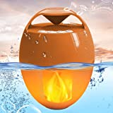 Wireless Pool Speakers, Floating Bluetooth 5.0 Speaker with LED Flame Lights,Outdoor Portable Speakers IP68 Waterproof, Loud HD Sound, Hands-Free Bluetooth Shower Speaker for Hot Tub Bathtub Camping