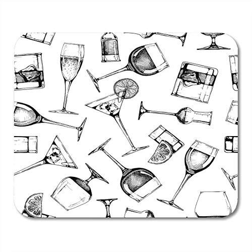 Mouse pad pattern verschiedene brillen becher und weingläser in altmodischen mousepad für notebooks, Desktop-computer mausmatten, Büromaterial