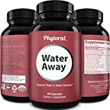 Natural Diuretic Water Away Pills - Herbal Diuretic Water Pills Water Retention Support Urinary Tract Health and Detox Cleanse with Dandelion Extract