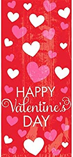 "Amscan Accessory Happy Valentine's Day Small Plastic Party Bags, 20 Ct. | 9 1/2"" x 4"" x 2 1/4"" 