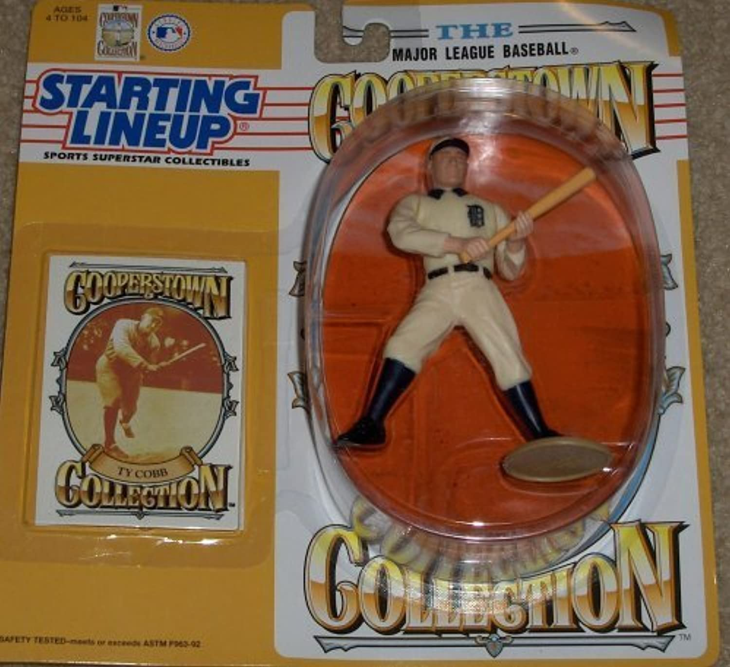 1993 Ty Cobb Cooperstown Collection Kenner Starting lineup Figure by Kenner