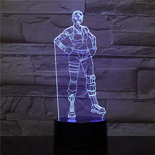 jiushixw 3D acryl nachtlampje met afstandsbediening kleur tafellamp spel afbeelding Halloween wil foto tafel tafel boya tafellamp