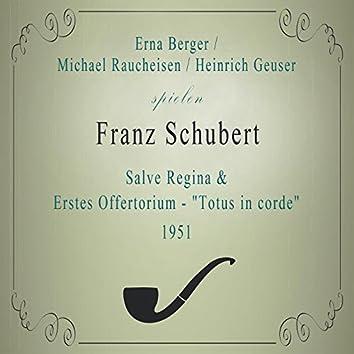 "E. Berger / M. Raucheisen / H. Geuser spielen: Franz Schubert: Salve Regina / Erstes Offertorium - ""Totus in corde"" (1951) [Live]"