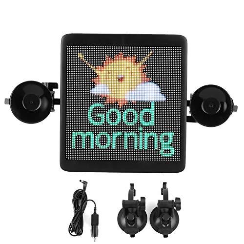 Pantalla de visualización LED, Pantalla de visualización LED automática Señal controlada por APLICACIÓN Bluetooth interactiva con soporte de montaje Cargador
