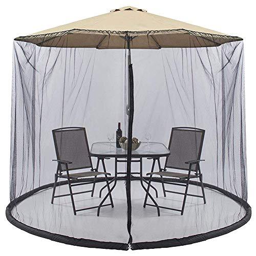 Sombrilla de jardín al aire libre Pantalla de mesa Parasol Cubierta de mosquitos para jardín al aire libre Sombrilla de exterior Mosquitera, Cubierta de toldo para patio / Pantalla de sombrilla de pa