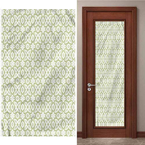 3D Door Decal Door Stickers Decor Door Mural, Celtic Nostalgic Motifs Celtic, Removable Self Adhesive Wall Decal for Home Decoration, W15 x L78.7 Inch