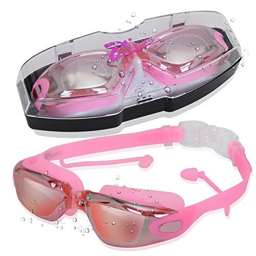 Occhialini da Piscina HD Impermeabili Antiappannanti Anti UV Anti Graffio Professionali per Donne NATEE 2 PCS Occhialini da Nuoto Uomini e Adolescenti