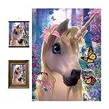 3D LiveLife Lenticular Cuadros Decoración - Unicornio adorable de Deluxebase. Poster 3D...