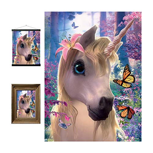 Cute Unicorn 3D LiveLife Lenticular Wall Art Prints from Deluxebase. Beautiful Kids Unicorn Poster. Original artwork licensed from renowned Artist David Penfound