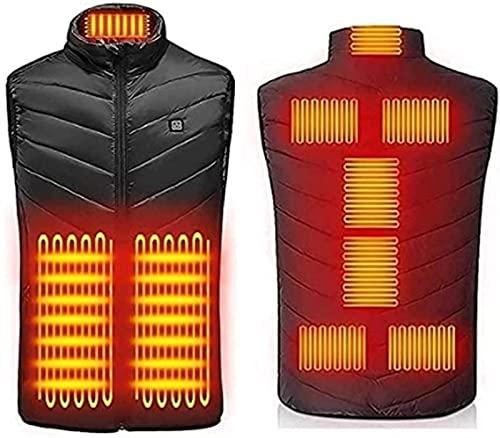 GYYlucky Chaleco calefactable, chaleco calefactado eléctrico USB para hombres y mujeres, chaqueta calefactora de ropa calefactable con temperatura ajustable para motocicleta, trabajo al aire libre, ca