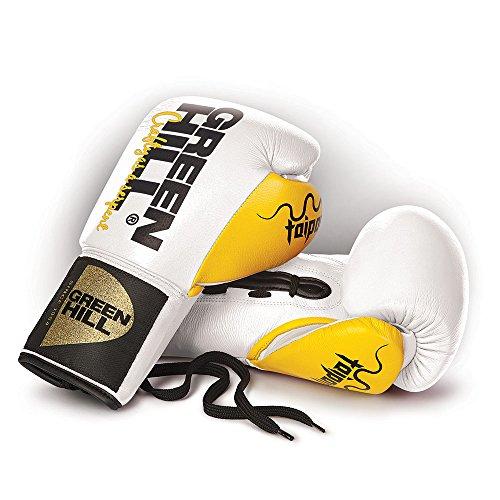 Green Hill Guantes DE Boxeo Profesional DE Combate TAIPAN Cordones (8 oz,...