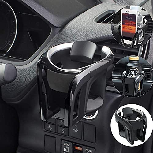 Autobekerhouder voor ventilatie, bekerhouder, telefoonhouder geschikt met 7,8 cm diameter flessenhouder, blikjeshouder, drankhouder voor alle telefoons