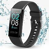 BOZLUN Smartwatch Hombre,Reloj Inteligente para Hombre Mujer Pantalla a Color de 1.14''Pulsera de Actividad con Monitores de Actividad,50M a Prueba de Agua,Carga Portátil para Android iOS(Negro)