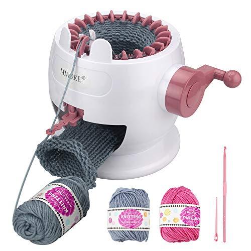 MIAOKE Máquina de tejer, máquina de agujas rotativas de 22 agujas de telar para adultos y niños, juguetes de bricolaje de gran tamaño, tejidos a mano, como sombreros, bufandas, guantes