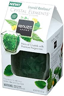 Renuzit Aroma Crystal Elements Air Freshing Crystals Emeralde Rainforest (Pack of 1)