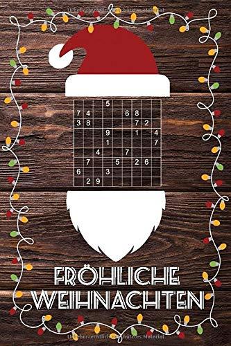 Frohe Weihnachten Sudoku: Kleines Rätselbuch in A6 Format   Schönes Geschenk für Julklapp, Wichteln, Adventskalender   Für Jugendliche & Erwachsene