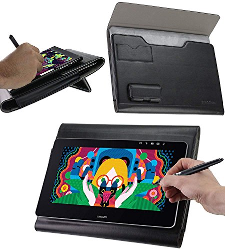 Broonel Luxury Leather Graphics Tablet Case with Built-in Ergonomic Stand Compatible with The HUION KAMVAS GT-156HD V2 15.6'' Graphics Drawing Tablet Monitor