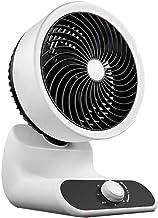 HUI JIN Ventilateur de bureau rotatif ultra silencieux Noir