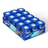 Vigorsol Energy Shot, Chewing Gum con Caffeina e Vitamine, Senza Zucchero e Senza Glutine, Gusto Menta, Confezione da 15 Mini Barattoli, 12 Chewing Gum Ciascuno