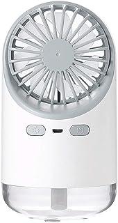 LF- Mini Aire Acondicionado Spray Ventilador pequeño USB Recargable portátil Ventilador de Mano refrigerador Agua Spray pequeño Ventilador silencioso portátil Frio (Color : White)