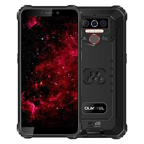 OUKITEL WP5 - Teléfono móvil 4G irrompible, batería de 8000 mAh, IP68...