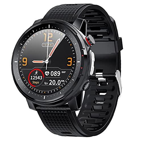 Trukorwuzi Smart Watch Bluetooth Deportes Pulsera IP68 Hombres Impermeables Mujeres Pantalla táctil Reloj Gimnasio Black para niños Mujeres Hombres