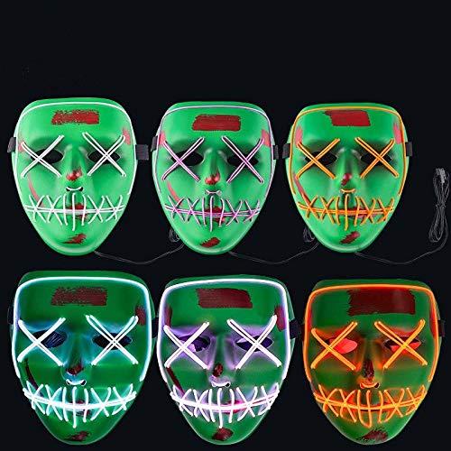 ACHICOO Halloween LED EL draad mond oog naaien masker kostuum voor partij prop