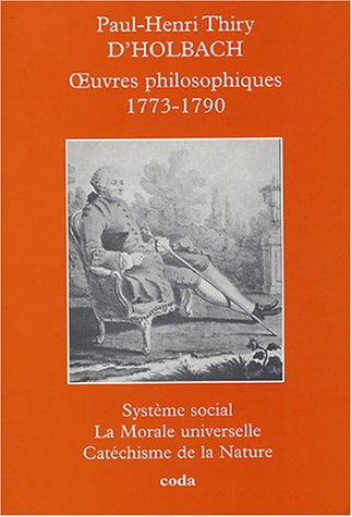 Oeuvres philosophiques 1773-1790