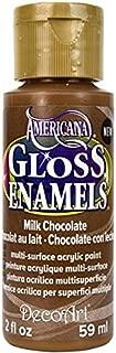DecoArt Americana Gloss Enamel Paint, 2-Ounce, Milk Chocolate