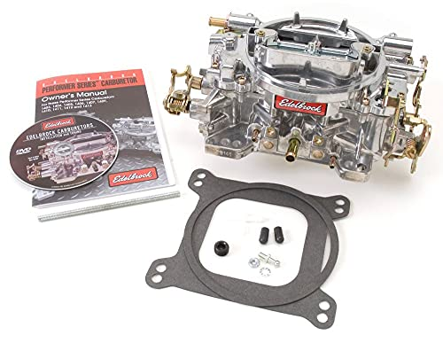Edelbrock 1407 Performer 750 CFM Square Bore 4-Barrel Air Valve Secondary Manual Choke New Carburetor