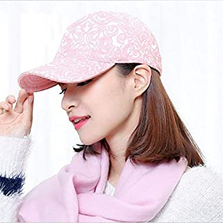 BEESCLOVER New Arrival Baseball Cap Women Autumn-Winter Fashion Cotton Snapback Baseball caps Adjustable prevented bask Lady hat Pink One Size