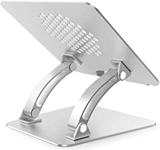 Laptop Stand, Foldable Portable Laptop Desk Multi-angle adjustable Folding Table Aluminum Ergonomic Tray Stand Compatible ...