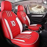 Cuscino coprisedili auto personalizzato, rivestimento in pelle di lusso per seggiolini auto Volkswagen volkswagen passat b5 golf golf tiguan Beetle CC touareg (RED,No Pillow)